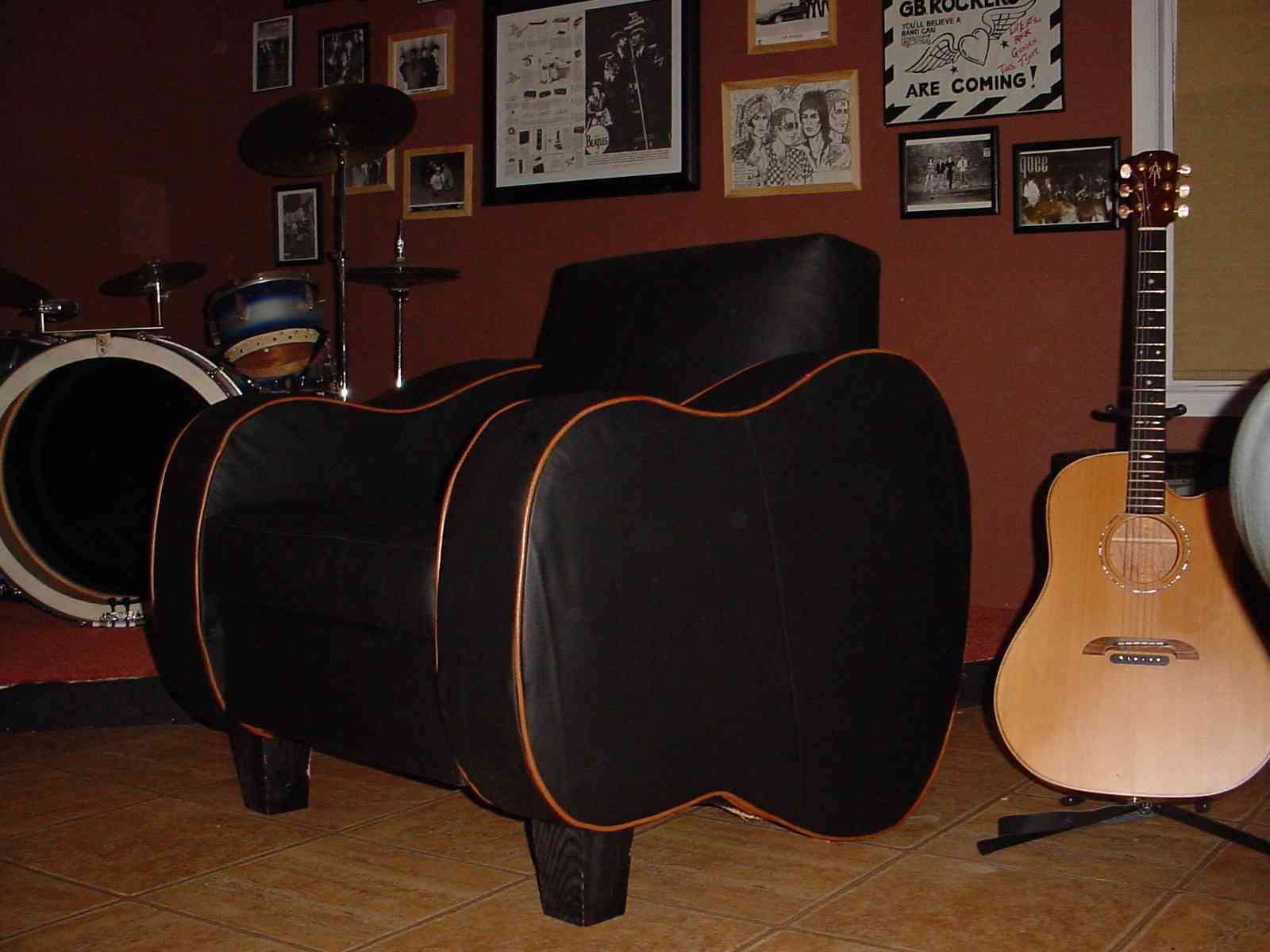 Upholstered Furniture Chair Musicians Guitar